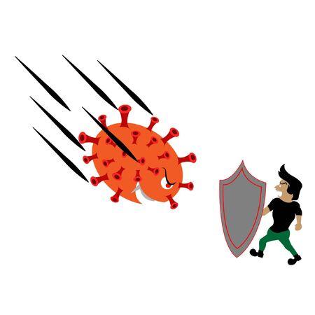 fend shield immune from danger virus corona invaded