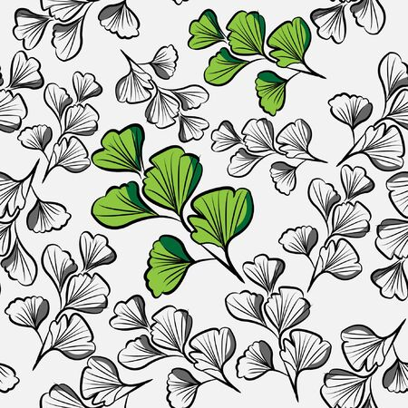 celery leaves nature Seamless pattern with green color leaf