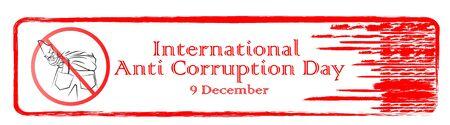 Design banner international anti-corruption day, 9 December, poster anti corruption illustration for printing