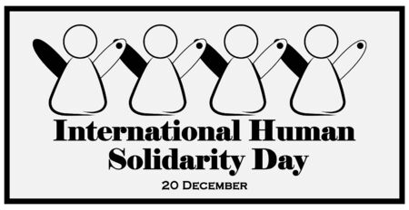 Banner people connect. international human solidarity day Illustration