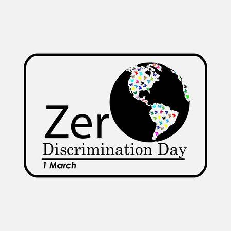 zero discrimination day banner design 1 March vector illustration