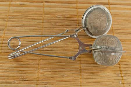 sieve: Sieve for tea Stock Photo