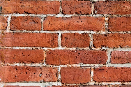 brick wall texture red detailed Stock Photo - 14584195