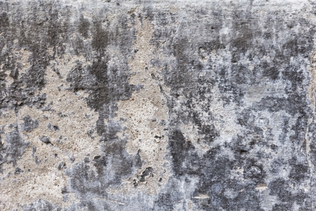 cracked cement: old dilapidated concrete wall with plaster and mold