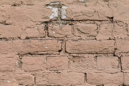 old pink painted brick wall high detailed Stock Photo - 15867131