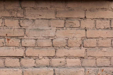 old pink painted brick wall high detailed Stock Photo - 15867123