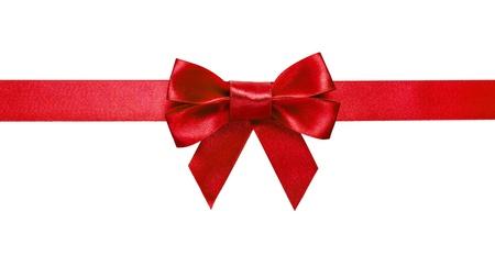 uomo rosso: nastro rosso con fiocco con la coda isolato su sfondo bianco