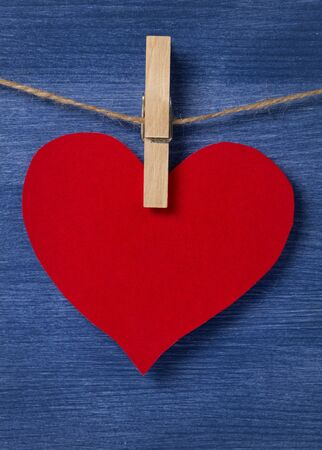 blank red heart over wood wall, valentines background Stock Photo - 16971045