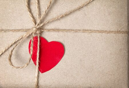 valentines day parcel, can be used as a background Stock Photo - 17253778