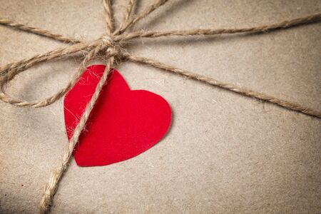 valentines day parcel, can be used as a background Stock Photo - 17253772