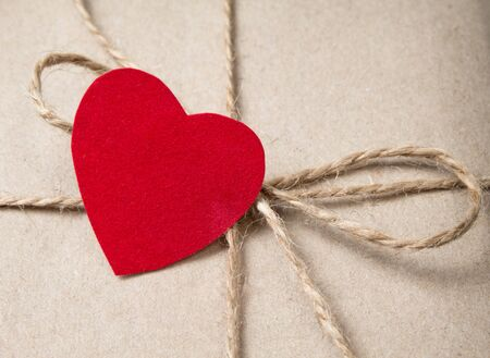 valentines day parcel, can be used as a background Stock Photo - 17253757