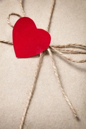 valentines day parcel, can be used as a background Stock Photo - 17253758