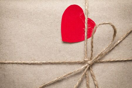 valentines day parcel, can be used as a background Stock Photo - 17253774