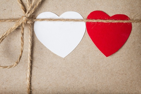 valentines day parcel, can be used as a background Stock Photo - 17253771