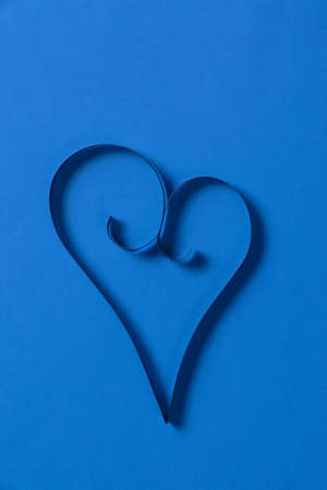 one paper hearts from above, valentines day background photo