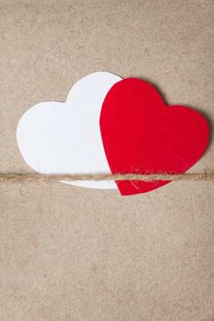 valentines day parcel, can be used as a background Stock Photo - 17377276