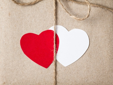 valentines day parcel, can be used as a background Stock Photo - 17377253