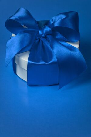 background with gift box, space for text photo