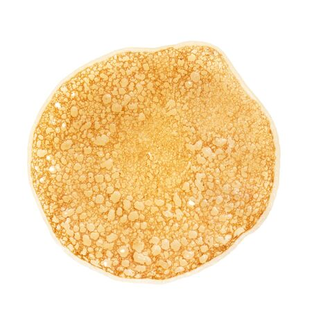 brownish: traditional russian pancake, isolated on white background Stock Photo