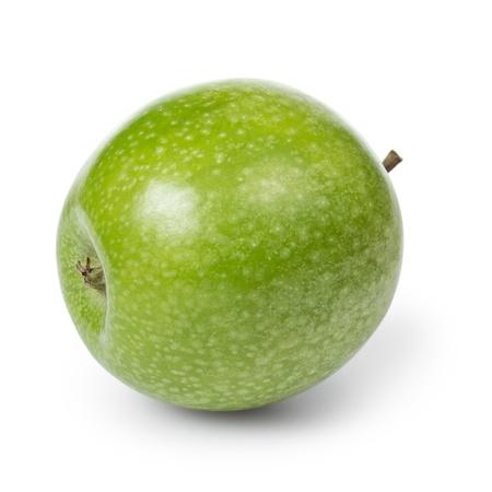 granny smith apple: fresh green granny smith apple, isolated Stock Photo