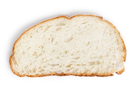 slice of white bread, on white background with shadow Stock Photo - 19158362
