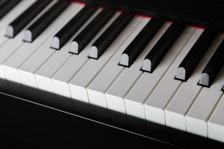 close up photo of piano keys, shallow depth of field photo
