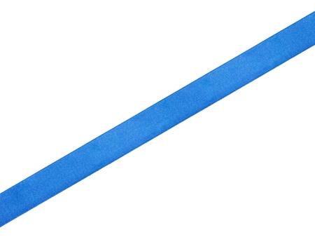 blue ribbon: straight blue ribbon, isolated on white background