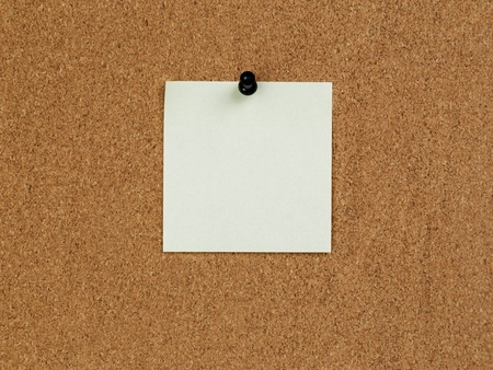 reminder note on cork board, for info photo