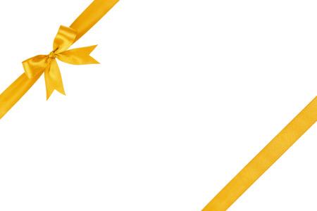 gold einfache Schleife gebunden Zusammensetzung, isoliert auf weiß