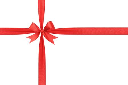 roten Band Bogen gebunden einfache Zusammensetzung, isoliert auf weiß Lizenzfreie Bilder