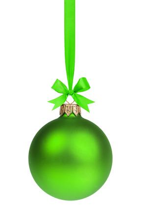 Einzel einfache grüne Weihnachten Ball hängen Band Lizenzfreie Bilder