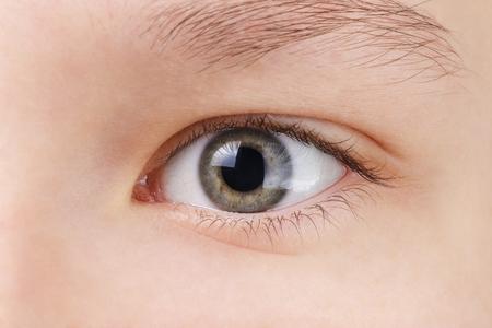 eye green: adolescentes ojo verde, cerca travieso Foto de archivo