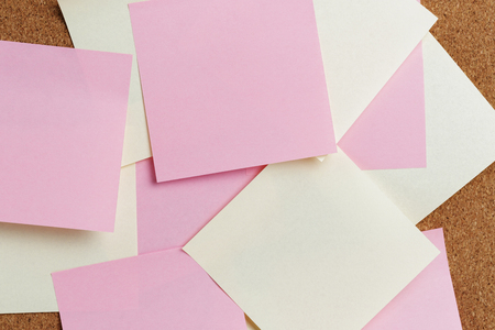 sticky notes on cork board, close up portrait Stock Photo - 23467276