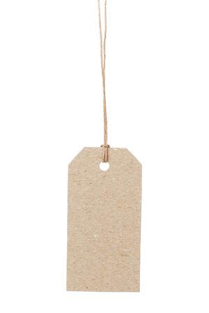 waxed: etiqueta vac�a de la cuerda encerada con espacio para escribir algo, aislado en fondo blanco Foto de archivo