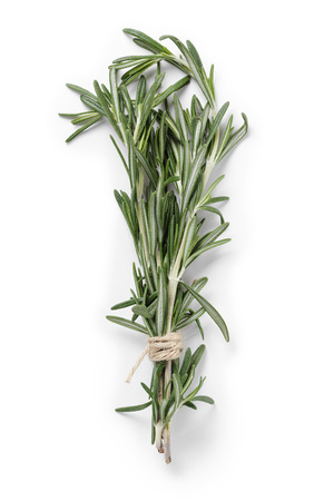 fresh rosemary bunch, isolated on white background