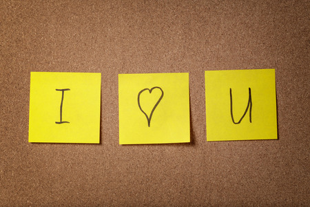 three reminder sticky notes i love you text, love theme photo