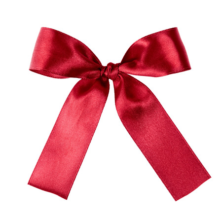 deep red ribbon to put on your present, isolated