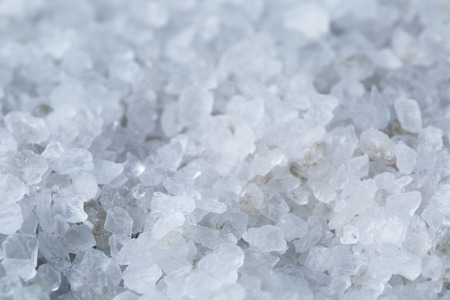 close up photo of sea salt crystals, food or spa