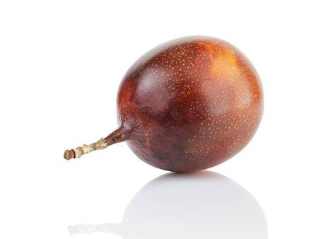 grenadilla: whole passion fruit granadilla, isolated on white Stock Photo