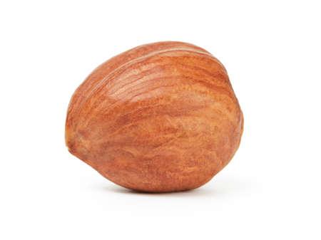 peeled: organic peeled hazelnut isolated