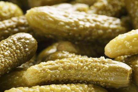 marinated: marinated cornichons macro shot Stock Photo