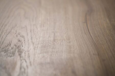 shallow  focus: old stained oak wood table angle background, shallow focus Stock Photo