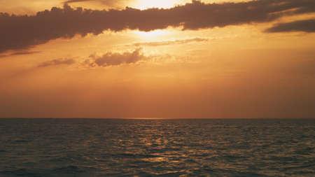 beautiful sunset in summer bay Stock Photo