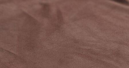 Closeup shot of brown suede , wide photo