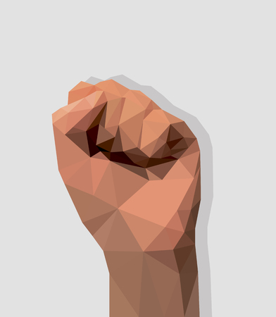 hand all five fingers raised fist Vector