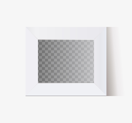 polariod frame: white vector transparent background to frame for photos and of artworks horizontal