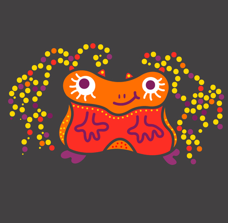 essence: monster creature essence bacteria virus funny and low and square Illustration