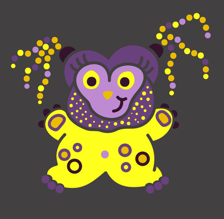 virus bacteria: Monster creature essence bacteria virus in a warm jacket