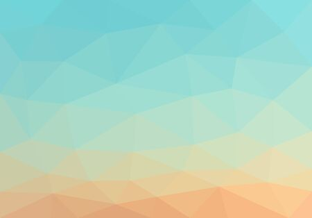 yellow sky: low polygon background polygon smooth gradient from blue to yellow sky in the desert. Illustration