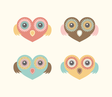 green day baby blue background: set 4 as the heart of an owl